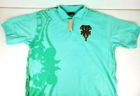 Coogi Mens Short Sleeve Green Polo Embroidered Shirt Size XL NEW NWT