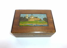 Handbemalte Holzdose Dose  Russland um 1900
