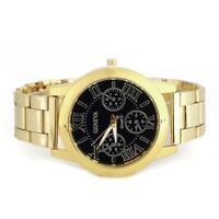 frauen gucken armband edelstahl - runde analog - quarz - armbanduhren