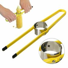 Stainless Steel Corn Cutter Separator Remove Kernel Stripper Kitchen Tool Yellow