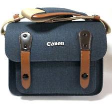 Canon EOS 1100D 1200D 1300D 1400 1500D SLR Canvas Camera Case Shoulder Bag(Navy)