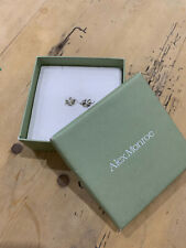 Alex Monroe Hand Made Lucky Clover Earrings In Silver Boxed As Shown