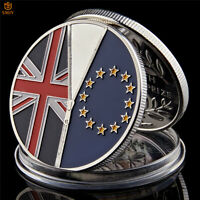 June23 2016 British Brexit Day Silver Plated World Commemorative Coin Collection