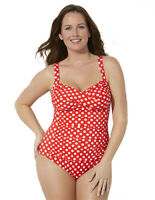 Swimsuits For All Women's Plus Size Ruched Twist Front One Piece Swimsuit