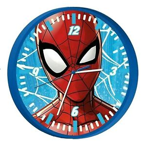 Licensed Spiderman Wall Clock Unisex Kid Christmas Gift Analog Time Learning 3+Y