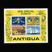 Antigua, Sc #458a, MNH, 1976, S/S, Ships, Space, Sports, Telephone, 12TAI-9