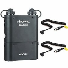 PB960 Battery Power Pack Black + Two Cx Cable for Godox TT685 TT680 Canon 580EX