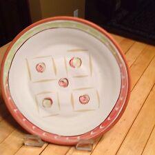 Artisan Ceramic Plate Geometric  Design  Handmade 10 Inch Diameter