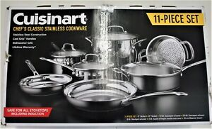 New Cuisinart Chef's Classic 11-Piece Stainless Steel Cookware Set