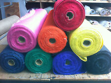 12oz coloured hessian * craft hessian. 1mtr wide, selct roll length & colour.