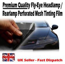64cm x 106cm Headlight Tinting Perforated Mesh Film Like Fly-Eye MOT Legal Tint