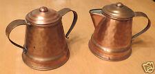 Gregorian Copper Ware Sugar and Creamer