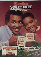 1985 Sugar Ray & Sugar Ray Jr  Boxer/Boxing Print Ad