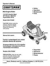 CRAFTSMAN ~ Mid-Engine Riding Mower - Rare ORIGINAL Manual ~ Great X-mas gift