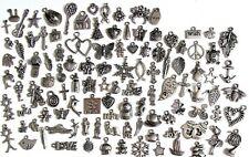 110 Breloques _ LOT MIX DIVERS arg de 11 à 29 mm _ Perles charms création bijoux