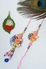 (USA Seller) Indian Rakhi for brother and bhabhi - His Her (Couples) - Lumba