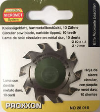 Proxxon 50mm Tungsten tipped saw blade 10T 28016 / Direct from RDGTools