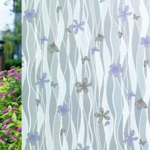 Frosted Privacy Glass Film Window Film Grey Butterfly Self Adhesive For Office