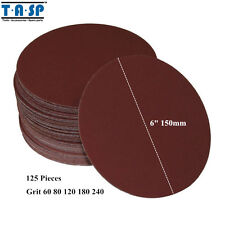 125Pcs 6 inch Abrasive Sanding Disc Peel Stick Sandpaper 60 80 120 240 Grit150mm