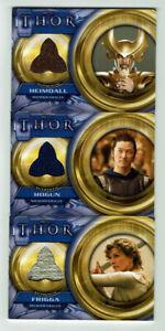 Thor Movie Trading Cards Upper Deck 2011 Costume Memorabilia Card Selection
