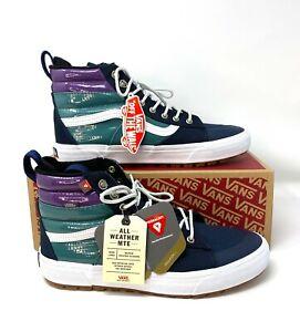 VANS Men's Sk8-Hi MTE 2.0 Dx Dress Blues Payent Leather Sneakers VN0A4P3I2US