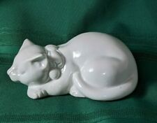 Vintage MOC Japan Porcelain Ceramic White Cat
