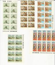 Brazil: 1988, 9 different stamps and thematics in blocks of 10 mint NH, . BR13