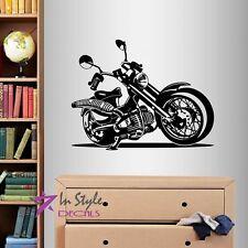Vinyl Decal Motorcycle Bike Moto Sports Riding Biker Extreme Wall Sticker 190