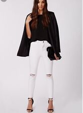 TopShop Moto Women's Jamie Ripped knee Jeans: Size W28 To L32: White