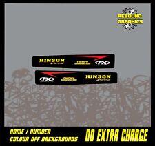 Honda CR 85 125 CRF 150 250 450 Motocross Swingarm gráficos Calcomanía Pegatinas Negro