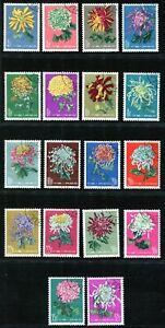China 1960 Chrysanthemums CTO NH OG aVF with Gum Irregularities