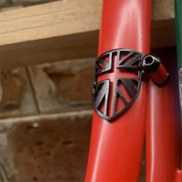 Cable Fender Protector for BROMPTON in BLACK Union Jack Fork Protection