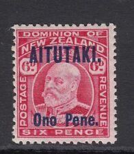 AITUTAKI SG11 1916 6d CARMINE MTD MINT