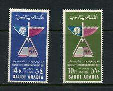 V101  Saudi Arabia 1970  telecoms  2v.    MNH