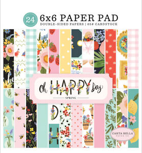 Carta Bella - Oh Happy Day Spring - 6x6 Paper Pad 24 Double-sided Sheets