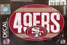 "San Francisco 49ers 5""x7"" VINTAGE Repositionable Vinyl Decal Auto Home Football"