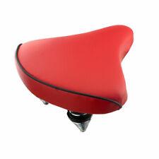 Nuevo! Estándar Vinilo Playa Cruiser Grande Sillín Asiento de Bicicleta 209 Rojo