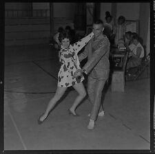BJ63449 Original 2X2 Press Photo 1963 Negative Teen Boy & Girl Dance Pajama PJs