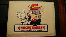 Chuck E Cheese's Wallet, retro vintage, 1991, ShowBiz Pizza Time INC, rare