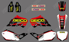TEAM DECALS GRAPHICS & BACKGROUNDS For HONDA CR125 CR250 1997 1998 1999 D02