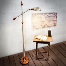 Stehlampe im Jugendstil-Design massiv Deko Messing-Optik ca. 6,1 kg verstellbar