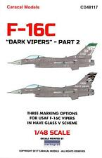 Caracal Decals 1/48 F-16 Viper Block 40/42 Dark Vipers Have Glass V Scheme #2
