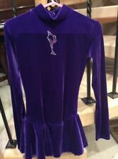 Mondor purple velvet dress with rhinestones skater size 8-10