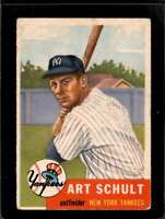 1953 TOPPS #167 ART SCHULT GOOD RC ROOKIE YANKEES  *X01288