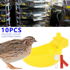 10Pcs Chicken Poultry Water Drinker Cup Coop Bowl Automatic Pigeon Farm Feeder