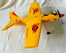 Vintage COX WINGS Yellow RC Airplane with part of motor