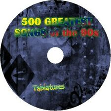 90 S années 90 guitare tab CD Tablature Song Book GREATEST HITS best of Music Audio
