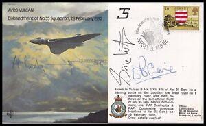 SIMON WESTON, ALASTAIR MONTGOMERY & DAVID CRAIG Signed Vulcan RAF Cover