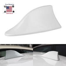 White Car Shark Fin Roof Antenna Aerial FM/AM & Radio Signal Decor Accessories