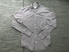 Club Monaco Men's S Small Slim Fit Button Front Shirt Long Sleeve Cotton Striped